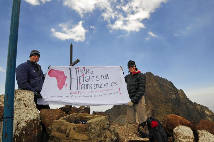 Hiking Heights at Lenana Summit Mount Kenya